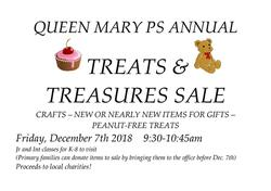 QUEEN MARY PS ANNUAL  TREATS &   TREASURES SALE